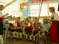 Nachwuchsmusiker der Feuerbergmusikanten Langenleiten